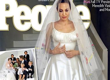 Анджелина Джоли показала свое свадебное платье