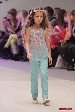 Маленькие модели продефелировали на Белорусской неделе моды