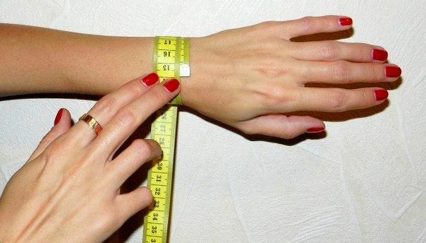 Как узнать размер своей руки для браслета